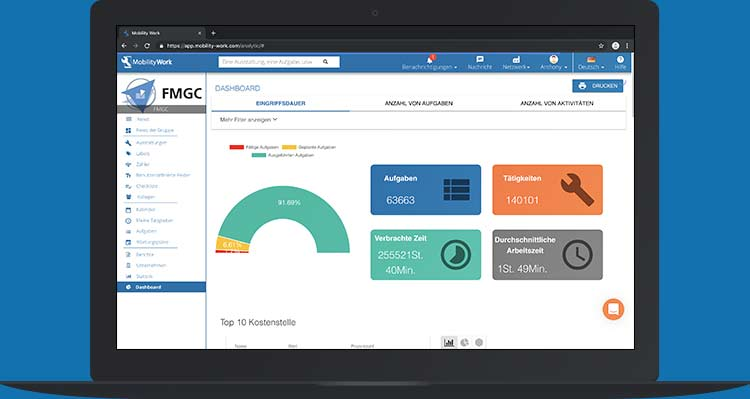 cmms software tablet cloud saas