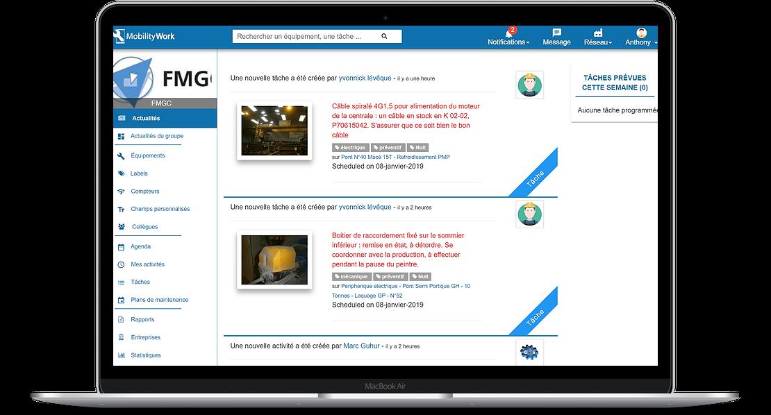 fil d'actualité GMAO