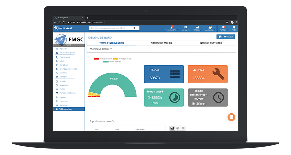 gmao tablet nube software saas