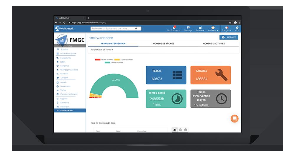 logiciel gestion maintenance tablette cloud saas