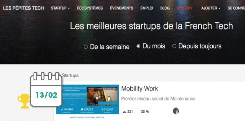 Mobility Work is the Startup of the Month