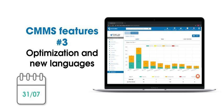 CMMS new features: optimization and new languages