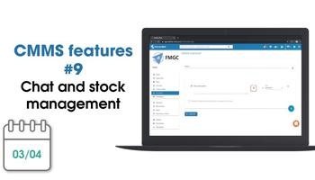 CMMS new features: chat and stock management